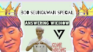 SEVENTEEN Answer WikiHow Articles: Boo Seungkwan Special
