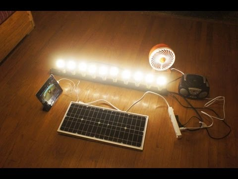 SOLN1 - Amazing all in one free energy portable solar unit.