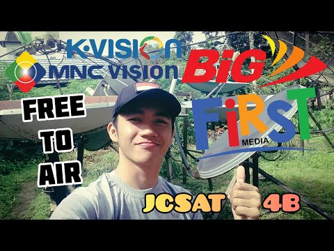 FIRST MEDIA BIGTV SATELLITE JCSAT 4B KUBAND REVIEW CHANNEL FTA RASA K-VISION & MNC VISION