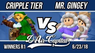 D-Air Capital 6 - Cripple Tier (Link) Vs. Mr.Gingey (Ice Climbers) - Winner R1