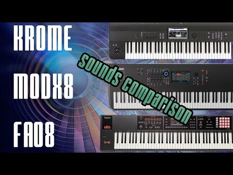 YAMAHA MODX - ROLAND FA - KORG KROME | SOUND COMPARISON by Luca Longoni