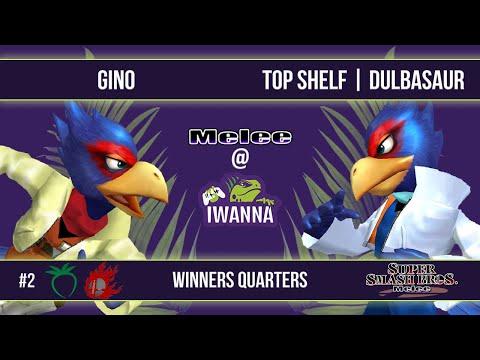 Melee @ Iwanna #2 - Gino (Falco) VS Top Shelf | Dulbasaur (Falco) - SSBM - Winners Quarters