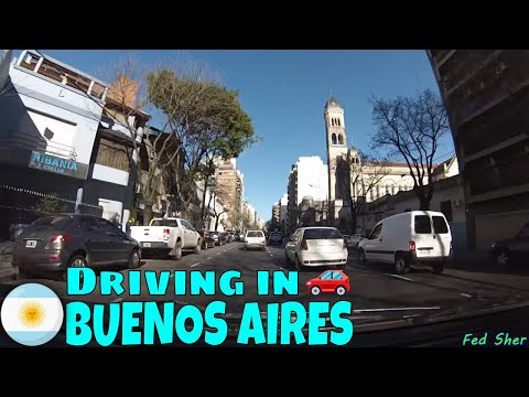 Driving in Buenos Aires (from Puerto Madero to Flores)