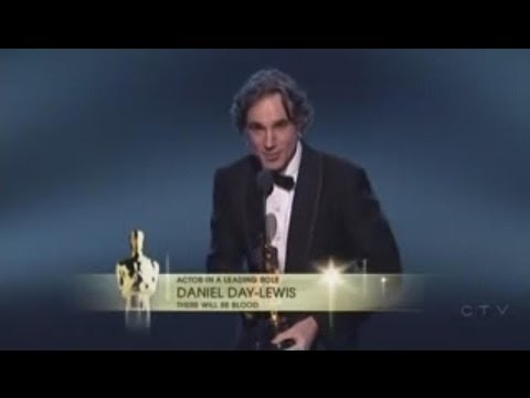 Daniel Day-Lewis winning Best Actor for There Will Be Blood