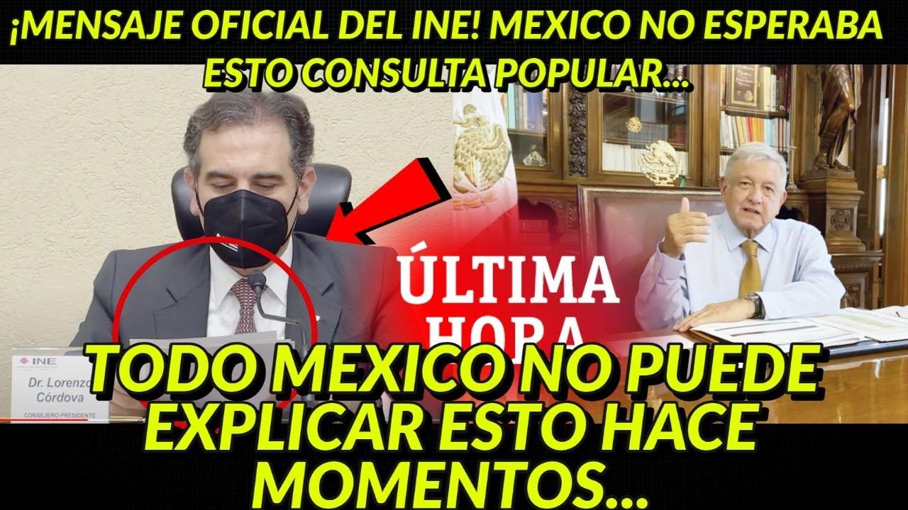 ¡MENSAJE OFICIAL DE LORENZO! MEXICO NO PUEDO EXPLICAR LO QUE ACABA DE OCURRIR CONSULTA ..