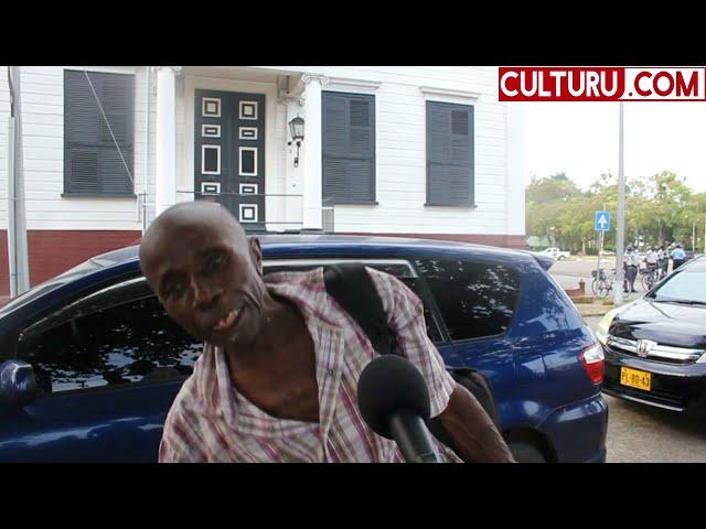Verhitte Surinamers tijdens protestactie o.l.v Sibrano Pique (straatpraat)