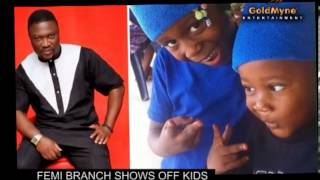 actor femi branch shows off kids