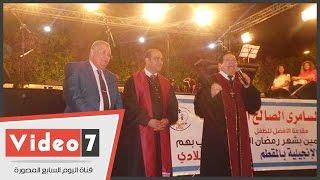 عبدالله النجار خلال الأمسية الرمضانية بالكنيسة الإنجيلية بالمقطم: ﻻ أخفى حبى لأشقائنا الأقباط