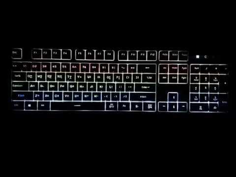 가성비 멤브레인 키보드 앱코 해커 K180 레인보우 LED 멤브레인 블랙 타건영상