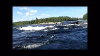 Сегежа, пороги, дети, большая вода Segezha, rapids