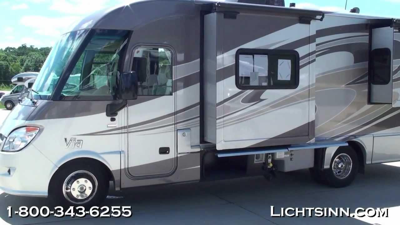 New 2012 winnebago via 25q motor home for Motor home class a