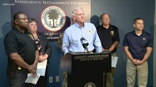 SC Governor Says Evacuations In Effect for Coast Except Hilton Head