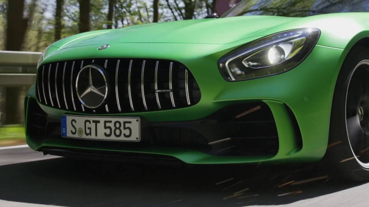 Mercedes benz amg gt r country road video green hell for What country is mercedes benz from