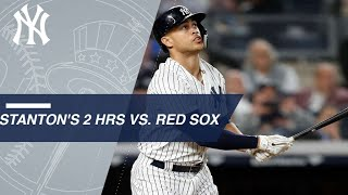 Giancarlo Stanton smashes two homers vs. Red Sox