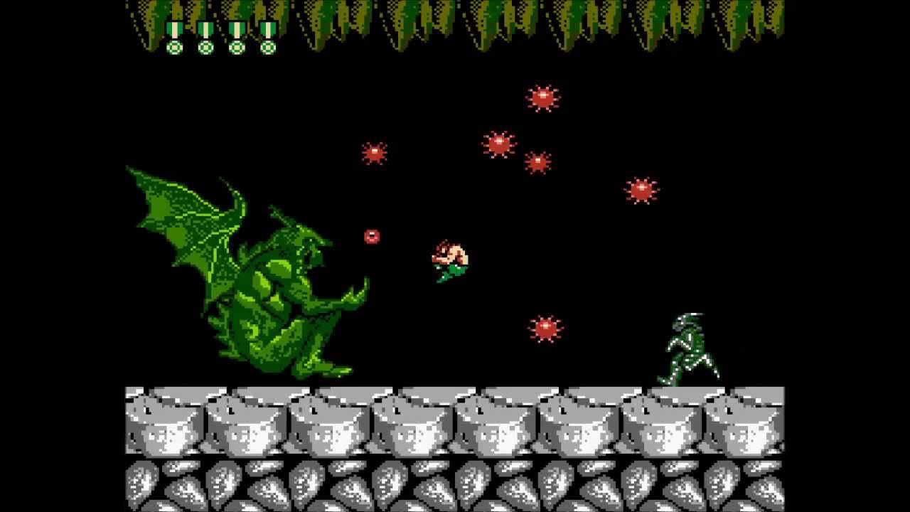 NES Super Contra 7 (Hack) Endless Flamethrower