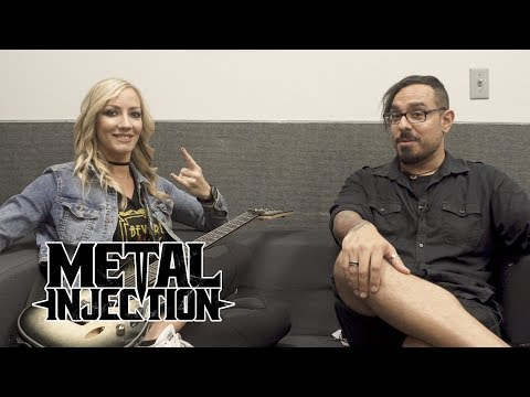 NITA STRAUSS On Playing With ALICE COOPER, Women Equality, Solo Album & More| Metal Injection