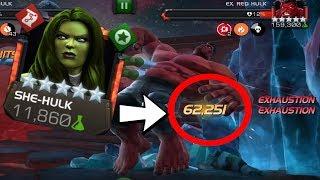 Major Damage She Hulk - Rank 5/65 Test | Marvel Contest of Champions