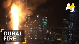 Huge Fire Breaks Out In Downtown Dubai