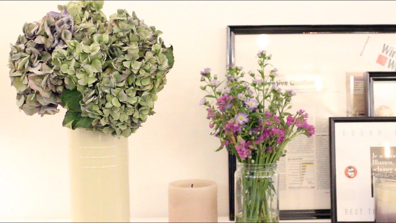 Sehr Hortensien trocknen | Quicktipp | BLOOMY DAYS - YouTube CD09