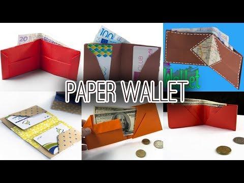 6 Best Paper Wallet | DIY | Origami Wallet