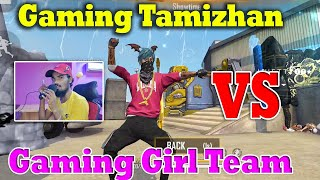 😱Wow.!😜| 🔥Gaming Girl Team Vs Gaming Tamizhan Team🔥  | Clash Squad Best GamePlay |Funny Speech Tamil
