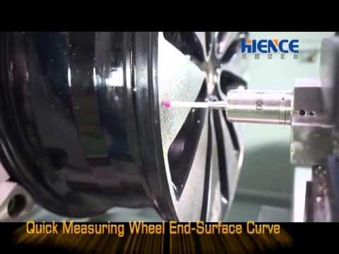 Diamond cut alloy wheel repair machine with probe. www.tahience.com