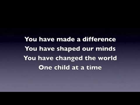 Teacher Appreciation Song  A Song for Teachers   You Have Made A Difference   YouTube