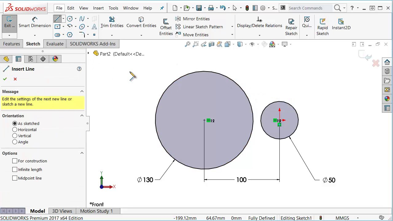 solidworks tutorial automatically add tangent relations between