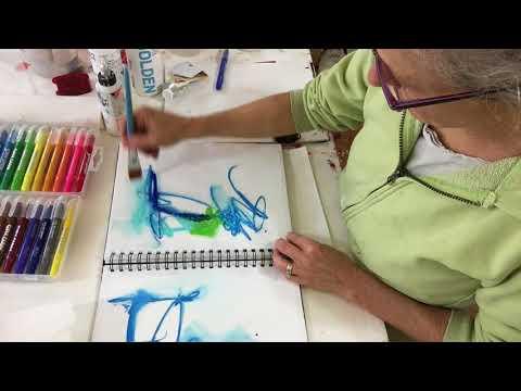 Gel Crayons In Sketchbook
