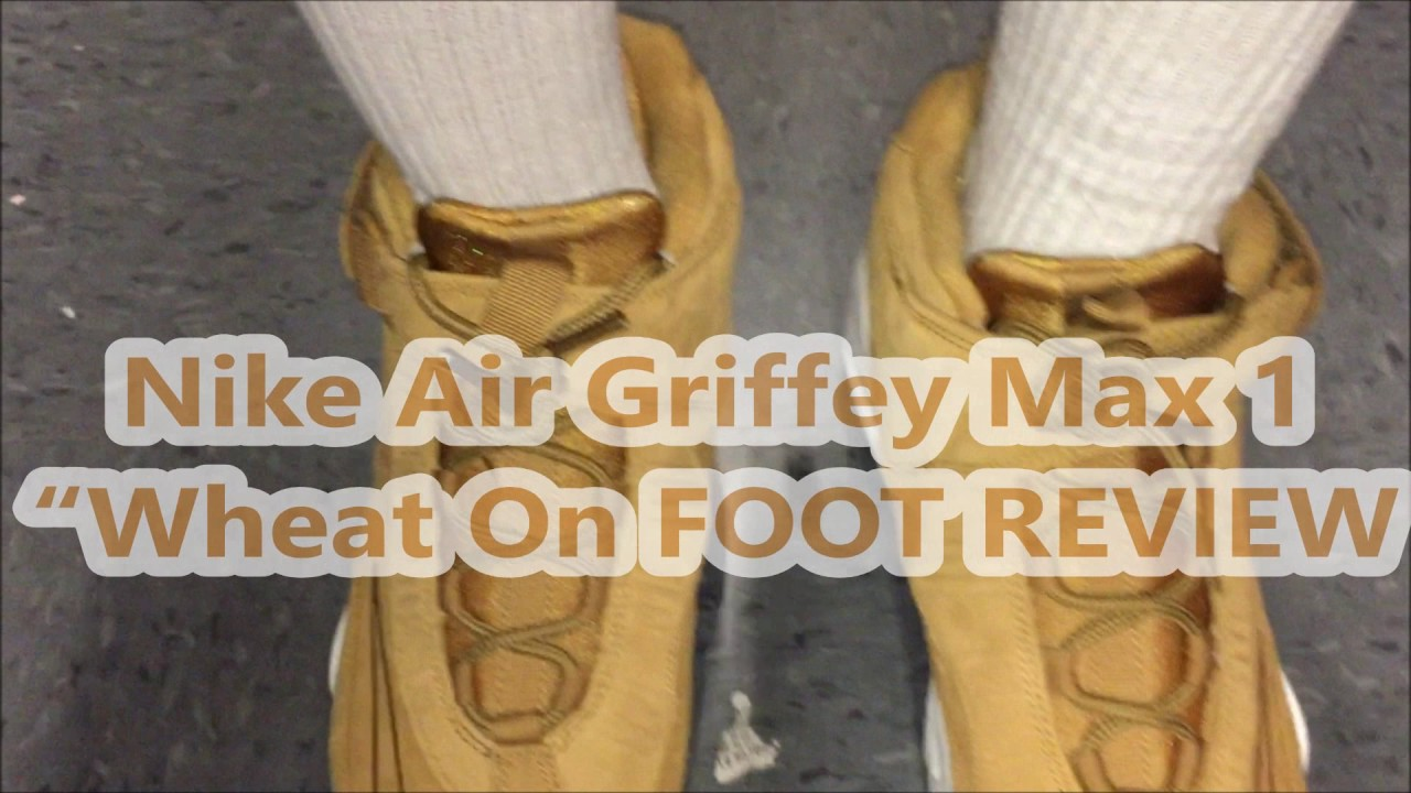 """362d23af1af First LOOK Nike Air Griffey Max 1 """"Wheat On Foot Review - YouTube"""