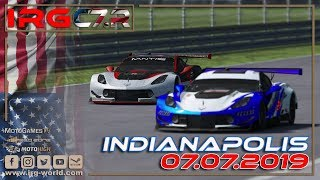 rFactor 2 – IRG Corvette Cup of America  – ROUND 8 - Indianapolis - LIVESTREAM