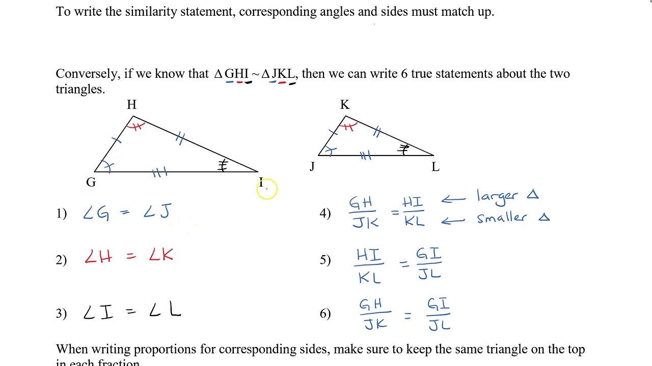 small resolution of Math 9 - Sec 9.2 Similar Triangles - YouTube