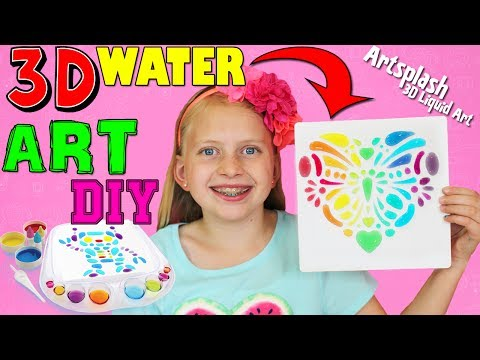 Amazing DIY 3D Liquid WATER ART with Artsplash!!!