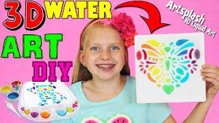Amazing DIY 3D Liquid WATER ART with Artsplash!!!