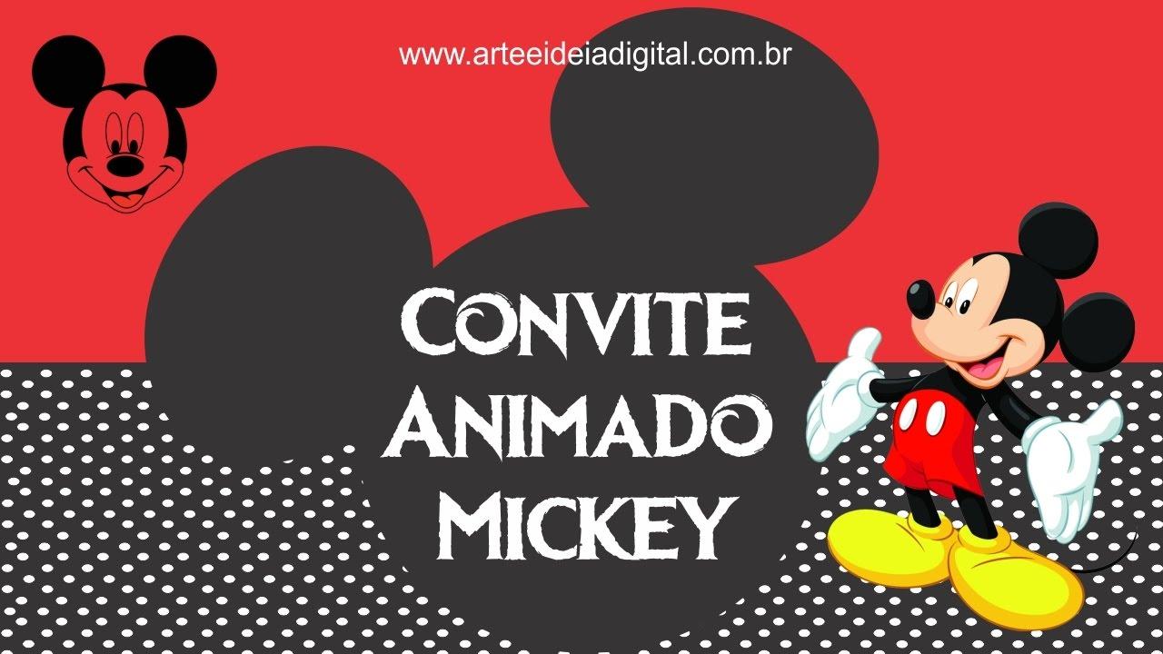 Convite Animado Mickey - YouTube 1c1830299385e