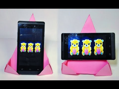 Mobile stand  making at home // DIY- Origami phone stand // Mobile stand with paper