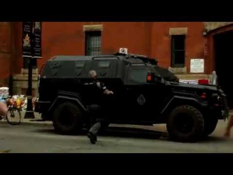 Raw Footage Of Hamilton Police Armored Vehicle