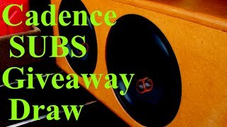 """Cadence 10"""" Subwoofers Giveaway Draw - Australia"""