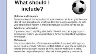Help writing a CV