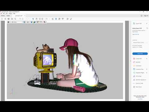 4D Publish: Exporting The Gamer.c4d Scene To A 3D PDF