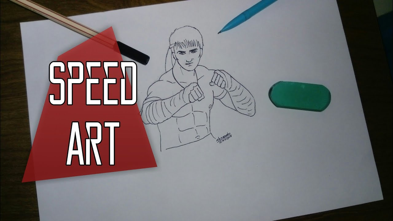 Desenhando Kla Free Fire Speed Art
