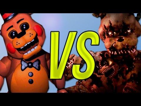 Five Nights At Freddy's 1,2 VS Five Nights At Freddy 3 VS 5 Nights At Freddy 4   СУПЕР РЭП БИТВА