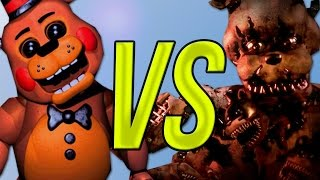 Five Nights At Freddy s 1,2 VS Five Nights At Freddy 3 VS 5 Nights At Freddy 4 СУПЕР РЭП БИТВА