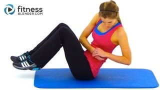 HIIT Workout for Abs and Obliques - High Intensity Interval Training Cardio & Abs