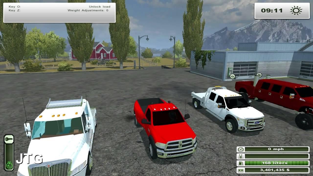 Farming simulator 2013 mods international hauler f 450 dodge ram 5500 youtube