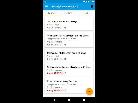 maintenance reminder apps on google play