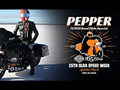 Harley-Davidson & Pepper: 25th DLRA Speed Week