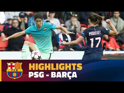 [HIGHLIGHTS] FUTBOL FEM (Champions League): PSG - FC Barcelona (2-0)
