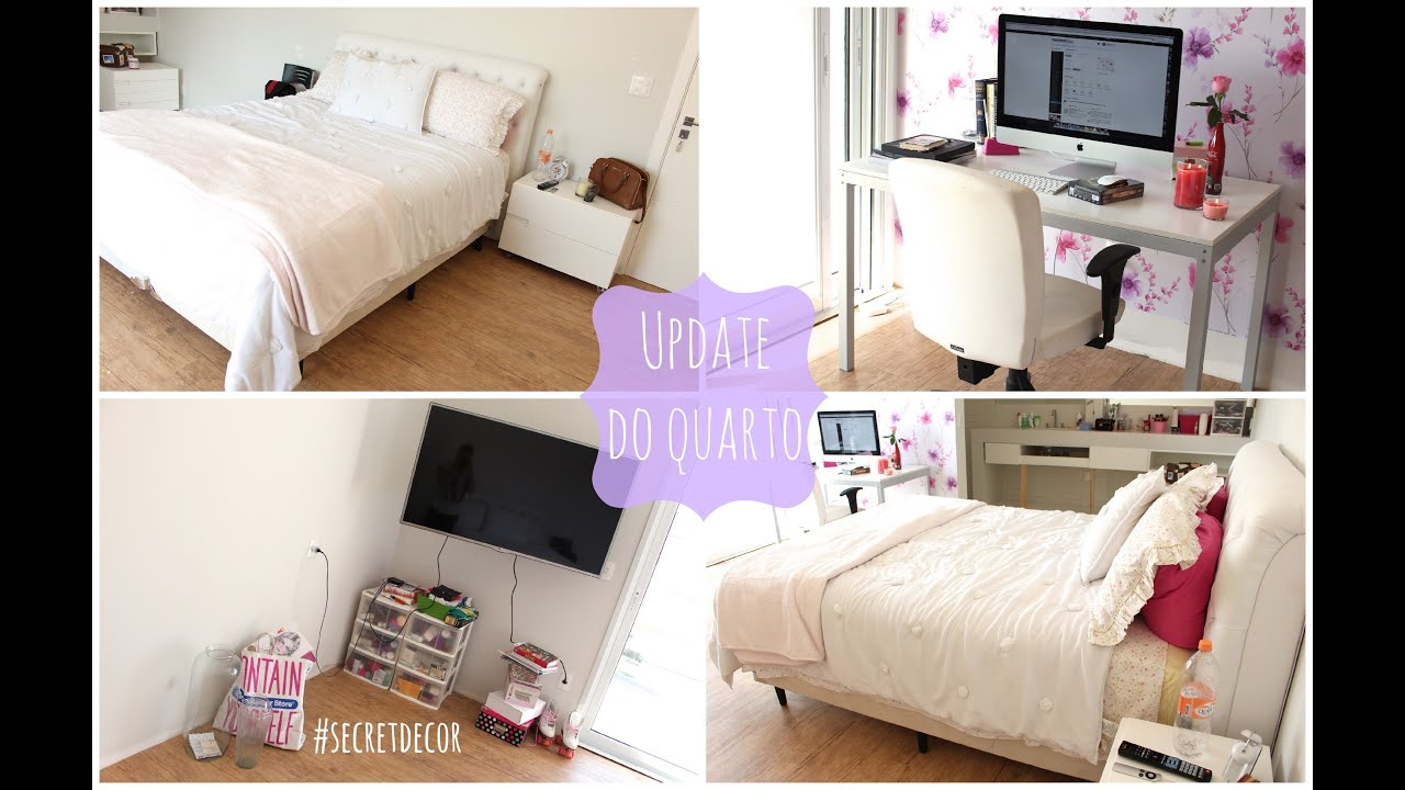 #secretdecor update do quarto (cama, cabeceira, TV, papel de parede)  YouTube