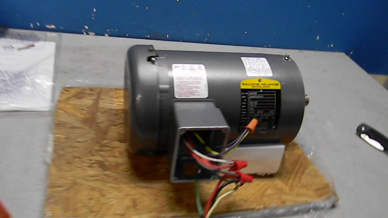medium resolution of baldor 3hp motor test